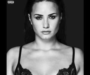 album, black and white, and lovato image