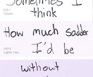purple, sad, and u image
