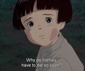 sad, anime, and grave of the fireflies image