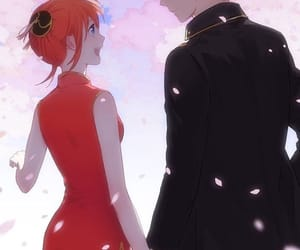 gintama, couple, and kagura image