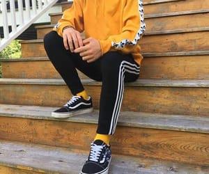 adidas, yellow, and vans image
