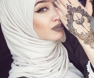 hijab, makeup, and eyes image