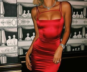 hailey baldwin, model, and red image