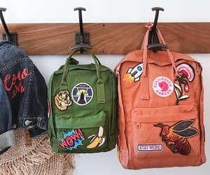 backpack, bag, and patches image