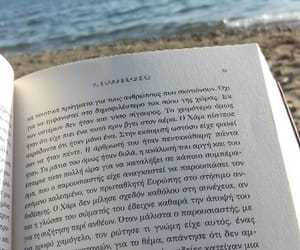 beach, book, and relaxing image