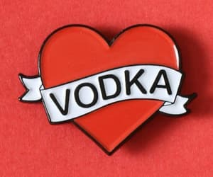 heart, red, and vodka image