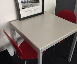 red chair and table image