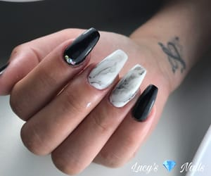nails, blacknails, and nagels image