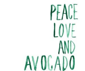 avocado, peace, and food image
