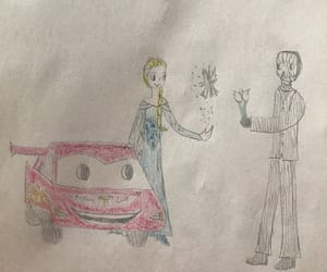 snow queen, lightning mcqueen, and masked magician image