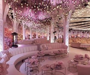 pink, luxury, and wedding image