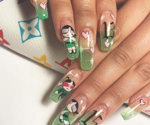 nails, green, and buttercup image