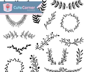 digital, wreath, and clipart image