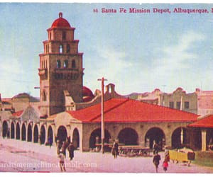 albuquerque, vintage postcard, and new mexico image