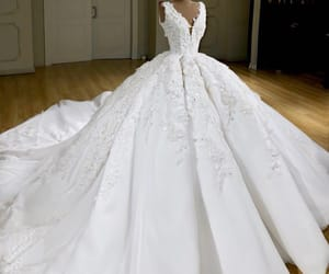 ball gown, bride, and expensive image