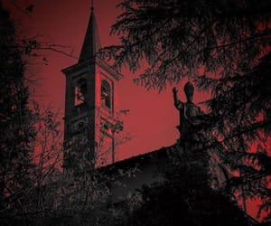 church, red, and horro image