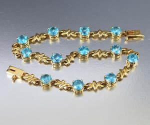 blue, bracelet, and simple image
