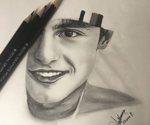 art, drawing, and shawn image