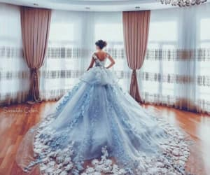 dress, blue, and wedding image