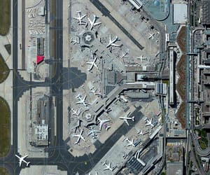 aerial photography, airplanes, and airport image