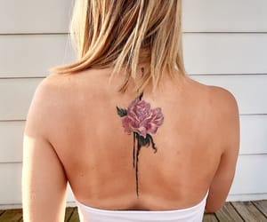 flower, tattoo, and rose image