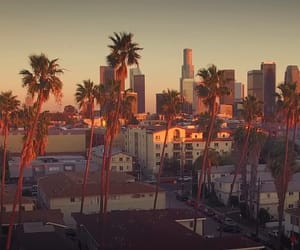california, sunset, and vacation image