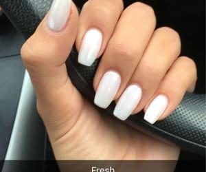 nails, white, and white nails image