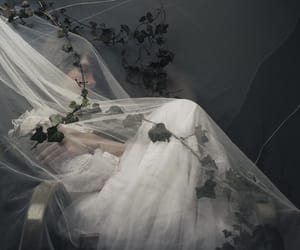 aesthetic, flowers, and dress image