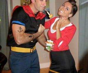 Halloween, couples, and popeye image