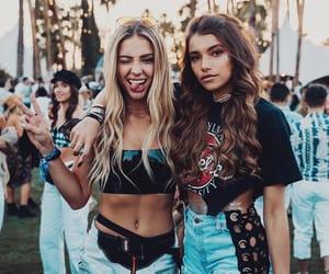 coachella, festival, and friendship image