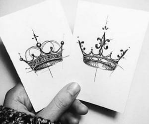 Queen, king, and art image