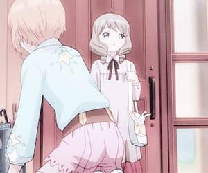 anime, gif, and sakura card captor image