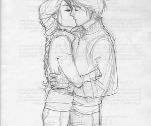 love, couple, and draw image