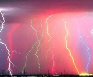 lightning, rainbow, and colors image