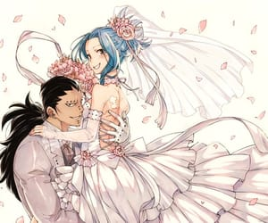 wedding, fairy tail, and gale image
