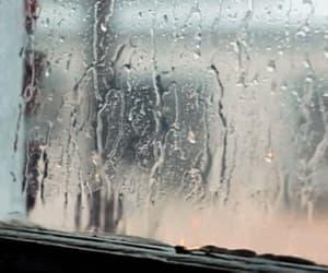 rain, gif, and window image