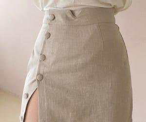 fashion, beige, and korean fashion image