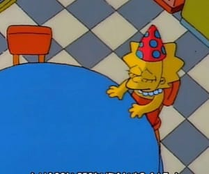 sad, simpsons, and birthday image