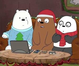 bear, cartoon network, and christmas image