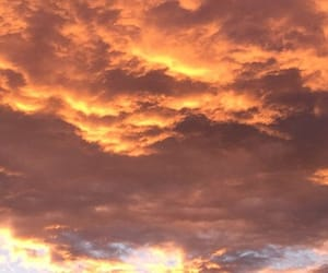 clouds, sunrise, and goldenhour image