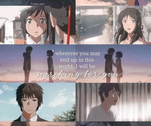 anime, your name, and love image