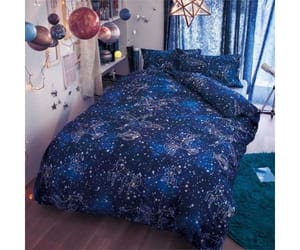 astrology, bedding, and bedroom image