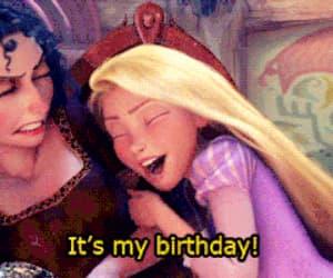 gif, happy birthday, and rapunzel image