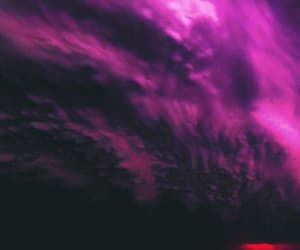 beautiful disaster, gif, and lilac sky image