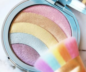 fashion, makeup, and rainbow image