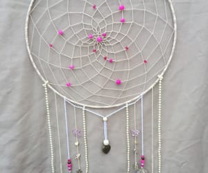 dreamcatcher, feather, and pearl image