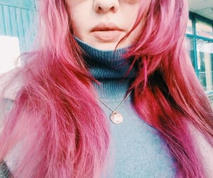 color hair, crazy hair, and pink hair image