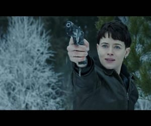 claire foy and girl in the spiders web image