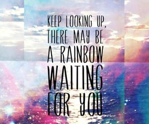 rainbow, quotes, and life image