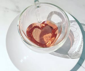 heart, tea, and drink image